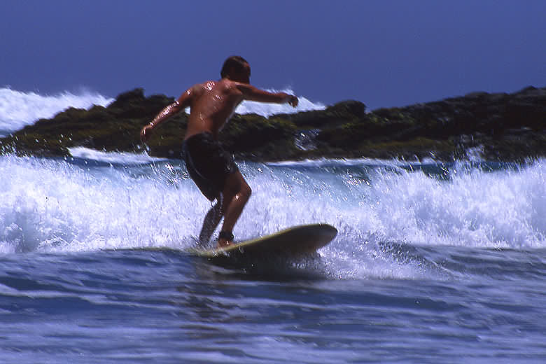Darren surfing in Todo Santos.