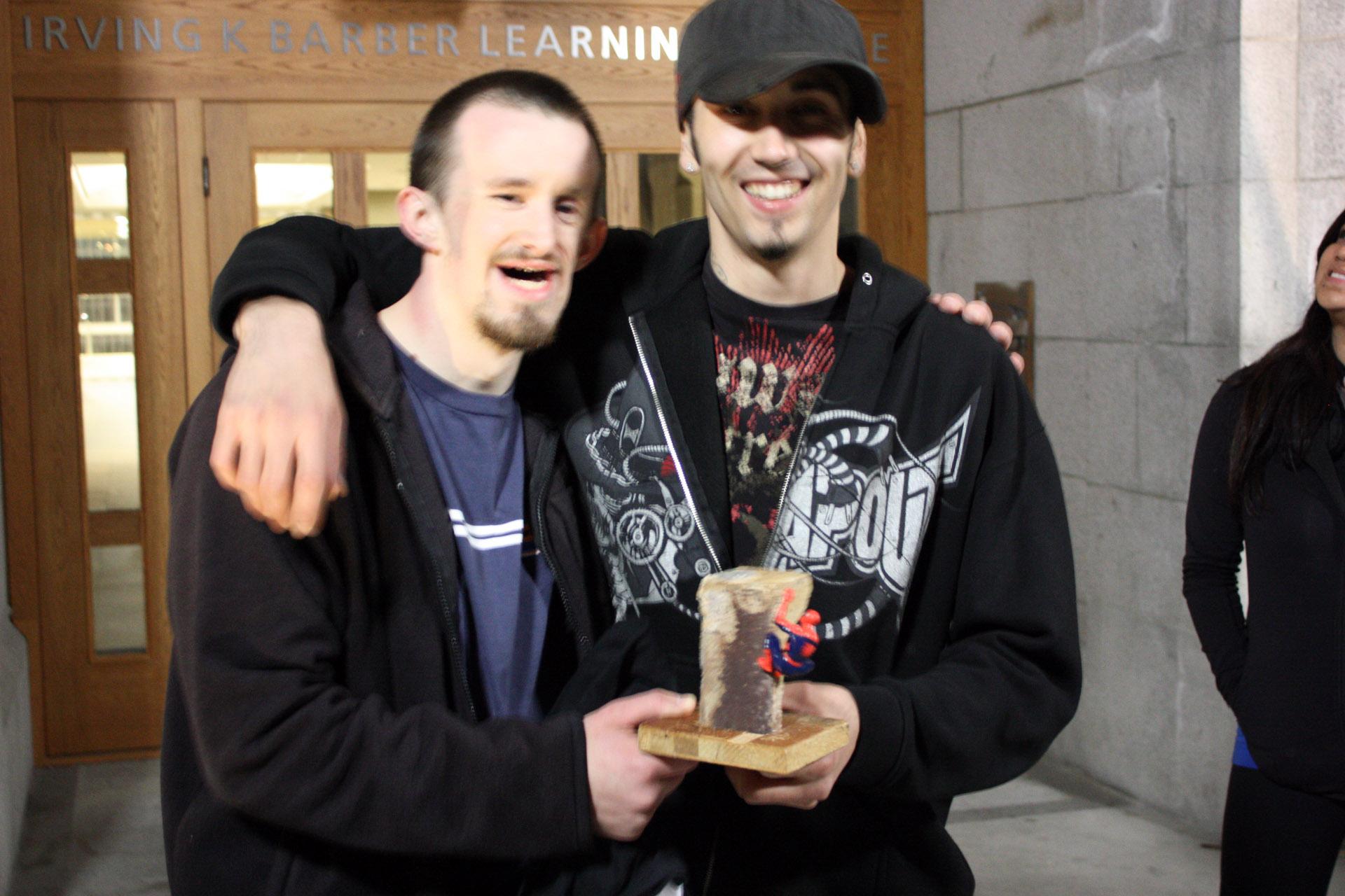 Shaun and Jan share the win.
