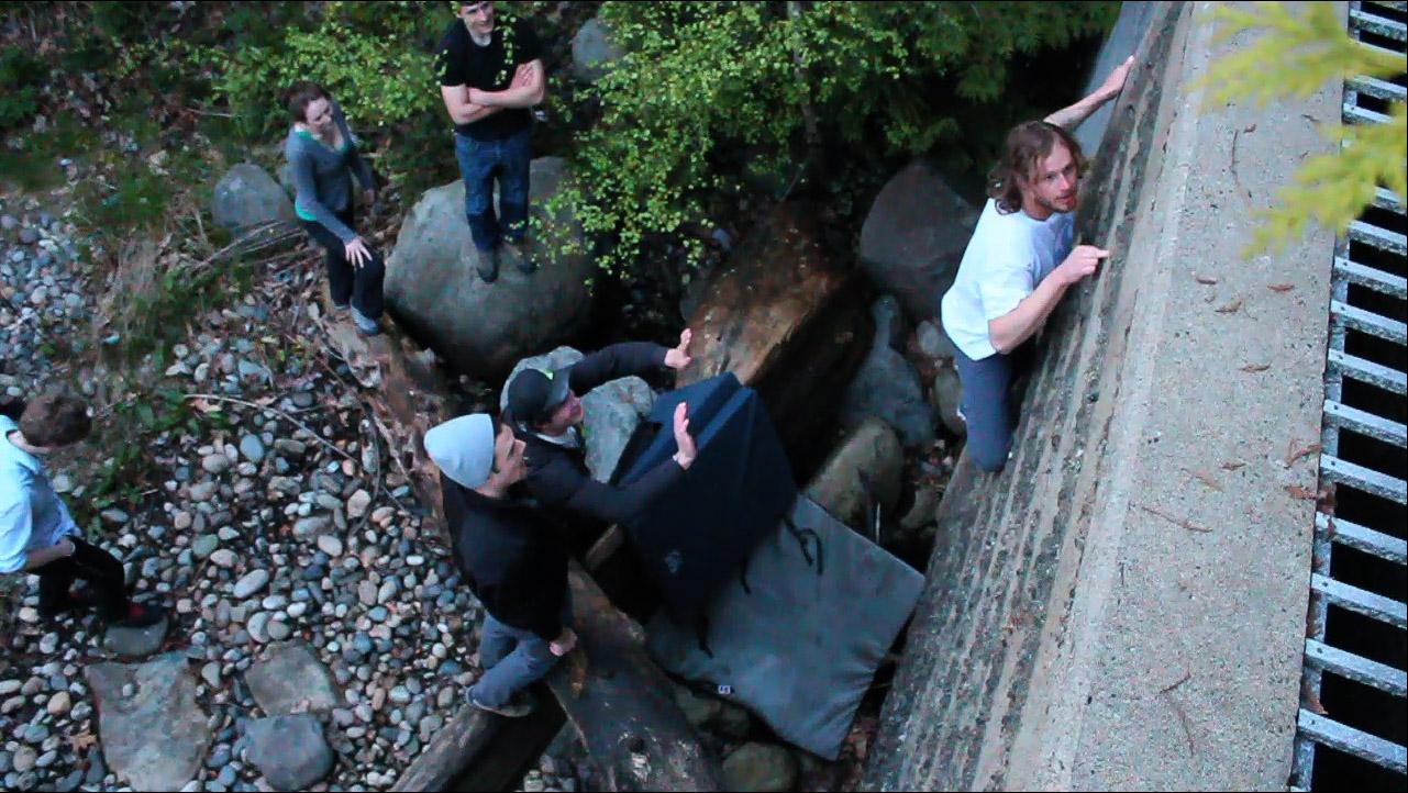 Nate on Longhouse Waterfall.